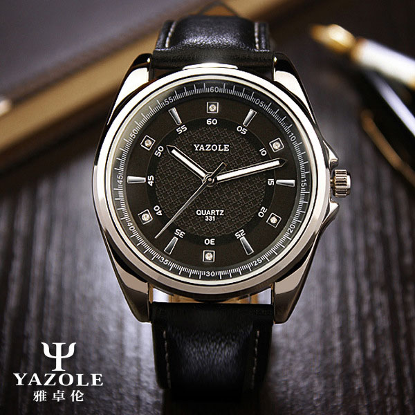YAZOLE Business Mens Watches Top Brand Luxury Men Watch 2017 Leather Wristwatch Male Clock Casual Quartz Watch Relogio Masculino<br><br>Aliexpress