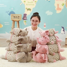 Free Dropshipping 35cm Colorful Giant Elephant Stuffed Animal Toy Animal Shape Pillow Baby Toys Home Decor(China)