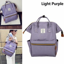 Classic School Backpack Canvas Tote Daypack High qualtiy  Travel Bags Light Purple