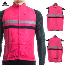 Racmmer 2017 Windstopper Windproof Sleeveless Cycling Jersey Clothing Bicycle Bike Reflective Maillot Chaleco Ciclismo #WX-05
