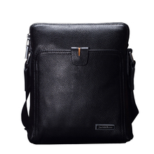 Genuine Leather Men's  Bag top fashion men messenger bags luxury brands best  business men Shoulder briefcase bag crossbody