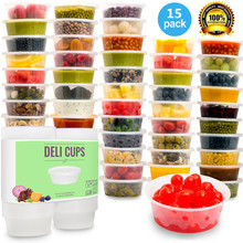 Plastic Food Storage Containers with lids,Baby&Portion Control,Kids Lunch Boxes-Watertight / Leakproof-Kitchen Set 8oz, 15pcs