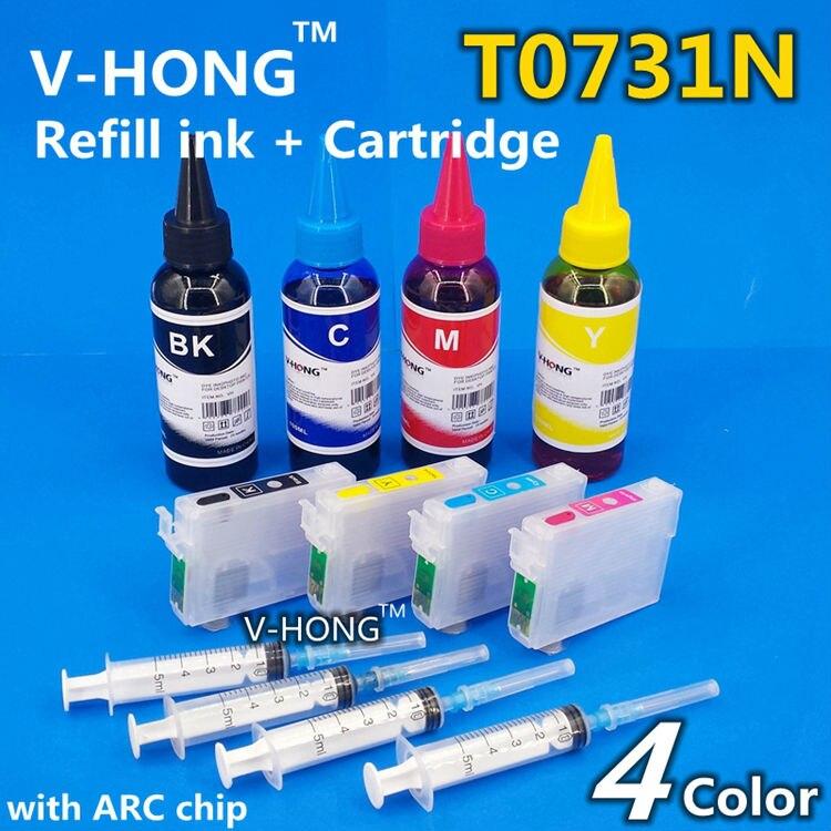 Refill Ink Cartridge T0731N T0732N T0733N T0734Nfor T10 T11 T20 T21 T40W T13 T20ETX213 TX550 TX410 TX200 CISS ink tank Cartridge<br><br>Aliexpress