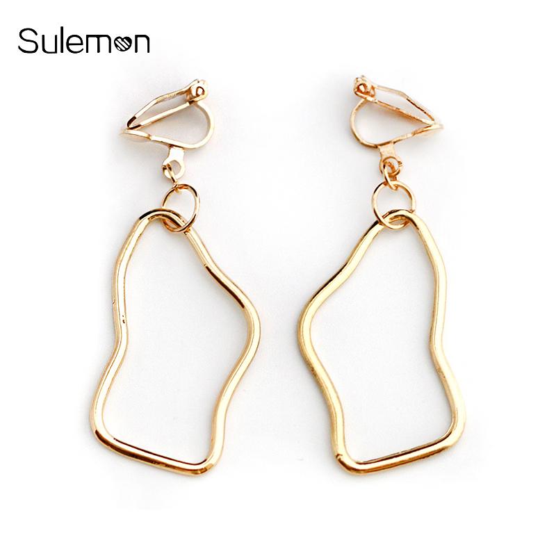 Irregular Geometry Metal Line Earrings