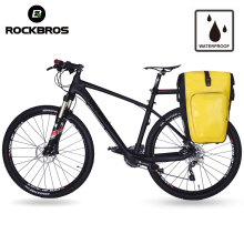 ROCKBROS Bicycle Rear Rack Tail Seat Bag Waterproof 27L Portable Cycling MTB Bike Bag Pannier Trunk Backpack Bike Accessories