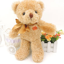 28CM Small Cute Teddy Bear Plush Stuffed Toys 4 Colors Teddy Bears LOVE Embroidered on Foot Children Kids Toy Gifts(China)