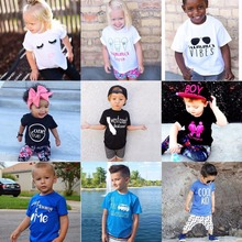 Summer Baby Boys Clothes Short Sleeved Infant Tees Shirts 100% Cotton Bebe Tops Girls T Shirt Blouses Children Print T-Shirts