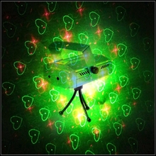 4 Patterns AC110V-220V 4in1 Stage effects Blue Mini Projector Red &Green DJ Disco Light Xmas Party Laser Lazer Lighting Show(China)