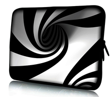 "Black White Swirl Soft Netbook Laptop Sleeve Case Bag Pouch For 13"" inch 13.3"" Macbook Pro / Air 13.3"" Apple Macbook Pro Retina(China)"