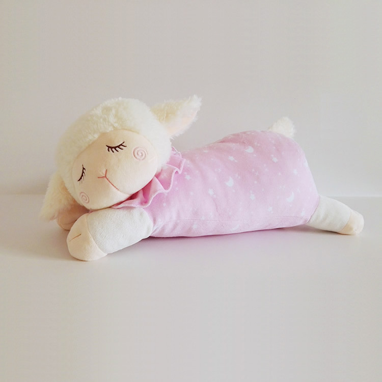 Free shipping 36cm=14inch Cute Baby Kids Animal Sleeping Sheep plush toy Soft doll for Children & Kids gift(China (Mainland))