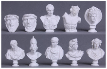 10 pcs/set Mini Resin Statue Laocoon/Michelangelo/Apollo/Athena/Alexander Home Decoration Figure Sketch Drawing practice Model