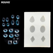 DIY Tools about the Diamond, Round, Water Drop Rubber Mold Liquid Silicon Crystal mold Shape