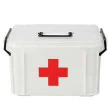 Safurance Plastic 2 Layers Health Pill Medicine Drug Bottle First Aid Kit Case Storage Box Emergency Kits Treatment(China)