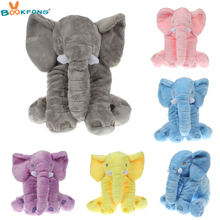 BOOKFONG 40cm Soft Elephant Pillow Plush Toy Stuffed Animal Elephant Baby Sleep Toys Room Decoration Gift for kids(China)