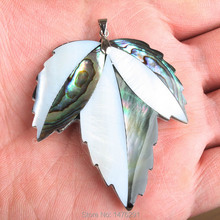 Natural jewelry Abalone Shell Maple Leaf  Bead Women Men Pendant 1PCS