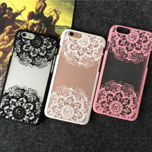 JiBan Hot For iPhone 5 5s 5se 6 6S Plus Back Case Cover Printing Pink Lace Skirt Flower Rose Wedding dress Cell Phone Case(China)