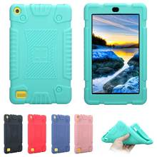 Shockproof Silicone Soft Back Case for Amazon Kindle Fire 7 2017 Tablet PC Protective Back Cover for Amazon kindle fire 7 inch(China)