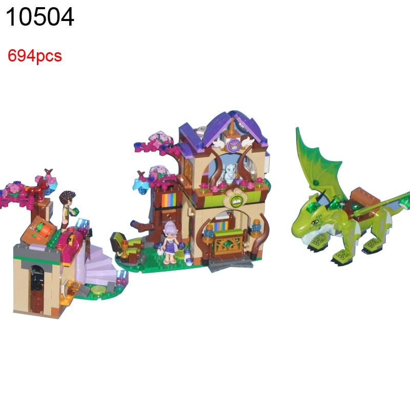 10504 694Pcs Elves The Secret Market Place Model Building Kit Blocks DIY Educational Brick Girls Friends Toys 41176 <br>