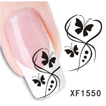 1sheets Promotion Cheap Fashion Sexy Butterfly Styles DIY Nail Art Decorations Manicure Polish Tools Nail Stickers LAXF1550(China)
