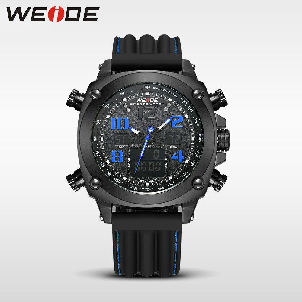 WEIDE genuine top brand luxury quartz sports wrist watch Multiple Time Zone relogio masculino relogio masculino digital watch<br>