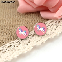 Buy P790 Dongmanli New cute Unicorn Stud Earrings Women horse Small Earrings child gift Jewelry Dropshipping for $1.49 in AliExpress store
