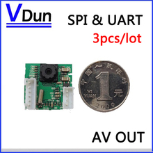 3pcs/lot  RS232 TTL / SPI High Speed JPEG Serial Camera Module SCC  With video out Support VC0706 SPI / Serial Protocol