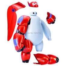 Hot Sale Removable Armor Deformable Big Hero 6 2015 New Deformable Robot Baymax Children's Action Toy Figures Holiday Gift