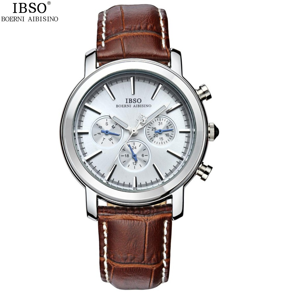 Fashion Men Calendar Wrist Watches Brand Genuine Leather Japanese Quartz Man Watch Week 24 Hour 30m Waterproof Male Wristwatches<br>