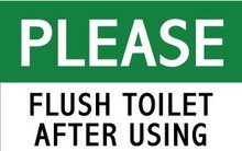 "Please flush toilet after using,4""x2.4"",Self adhesive label sticker,product code PL10, free shipping"