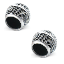 2PCS Replacement Mesh Grille Head Ball for shure sm 58 sm48 slx2 slx4 and other Applicable Microphone System