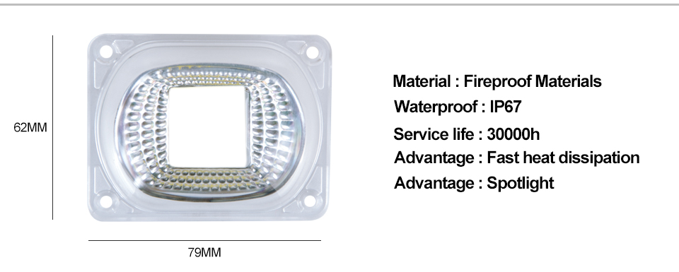 COB LED Chip Light With lens reflector (2)