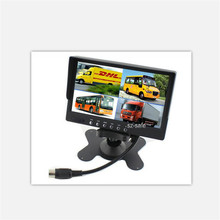 Quad 4 Channels Video Input Split 7 inches TFT LCD Color Monitor for Truck OSD Menu and Remote Control Chinese Manufacturer HOT
