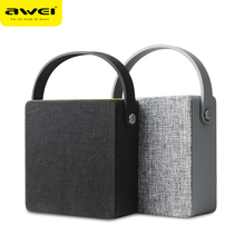 Awei Sound Box Bar Hoparlor Blue Tooth Audio Blutooth Mini Music Wireless Portable Bluetooth Speaker For Phone Player Portatil(China)