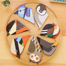 Multi Function Colorful Birds Bookmark Magnetic Material Escolar Book Markers With Ballpoiint Pen Set Kawaii School Supplies