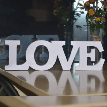 LOVE Letters Wooden Romantic Vintage Freestanding Wedding Decorations Marriage Love Wedding Sign 31cm Wide x 9.5 CM High