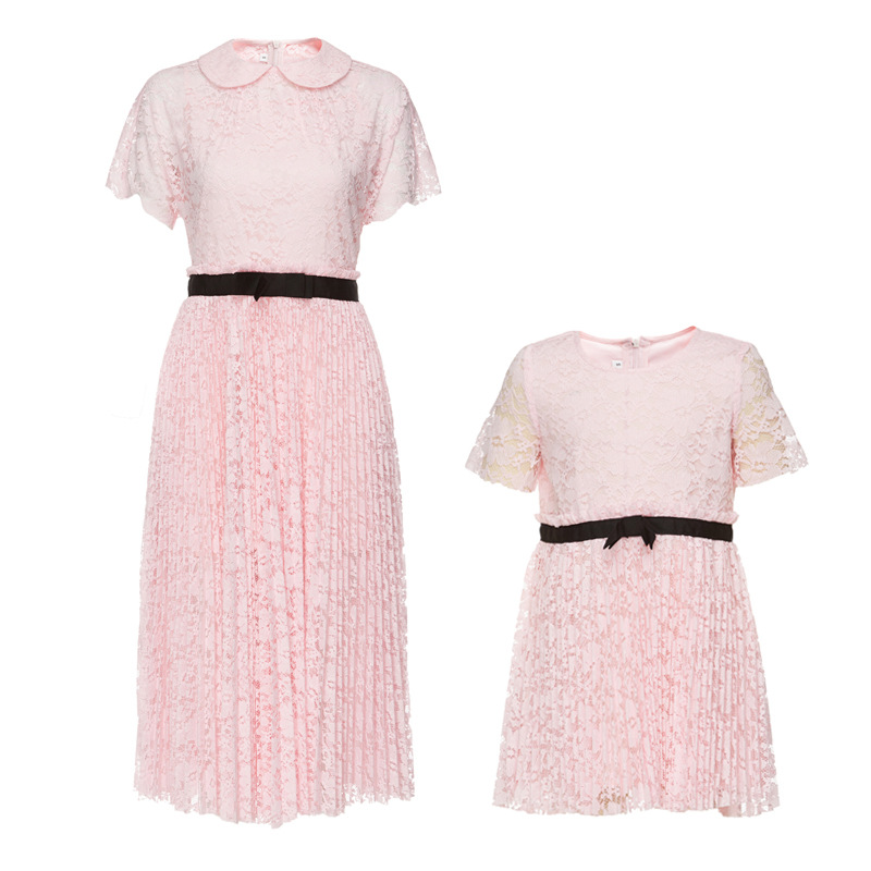 Girls Princess Dress Kids Lace Banquet Costume Pink and Red Color 2017 Family Matching Outfits<br><br>Aliexpress