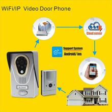 smart phone Android/IOS APP support wifi doorbell door phone intercom system images of cheap Wifi video door phone(China)