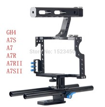 15mm Rod Rig DSLR Camera Video Cage Kit Stabilizer + Top Handle Grip Sony A7 II A7r A7s A6300 A6000 Panasonic GH4 GH5 A9 A73