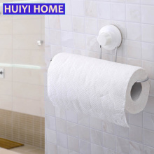 Huiyi Home Kitchen Towel Storage Rack White Sucker Wall Shelf Bathroom Organizer Toilet Paper Holder EGN352(China)