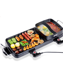 Multifunction Electric Barbecue Hot Pot Home Smokeless Elecric Pan Non Stick Stone Grill Efficient Fast Baking M(China)
