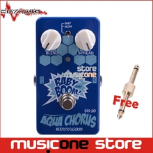 Biyang Baby Boom CH-10 Electric Guitar Bass Two Speed Analog Aqua Chorus Effect Guitar Pedal True Bypass with pedal connector