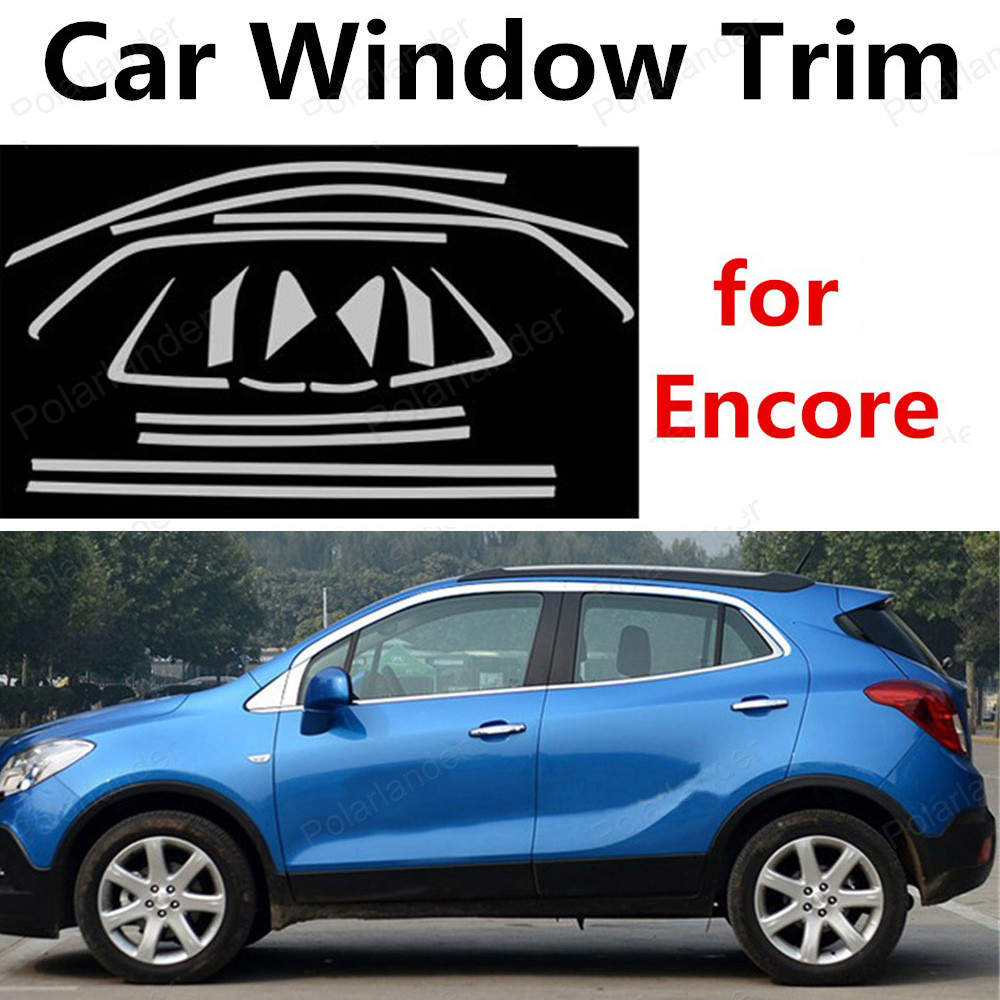 hot!! For Encore Stainless Steel Decoration Window Trim Car Styling Strips without column <br><br>Aliexpress