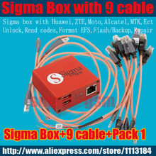 Original sigma box with 9 cables with Pack 1 activation for t MTK-based Motorola, Alcatel, Huawei, ZTE(China)