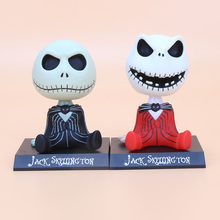 The Nightmare Before Christmas jack Wacky Wobbler Bobble Head with box PVC Action Figure Collectible Model Toy size in 10cm(China)