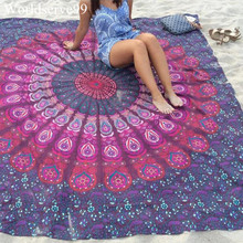 210CM Print Flower Summer Beach Towel Indian Mandala Tapestry Swimming Bath Towels Polyester bikini cover-up Yoga Mat Boho Decor