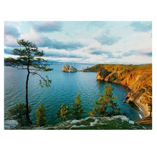 round NEW 3D DIY Diamond Painting Lake Baikal Nature Kits For Cross Stitch Canvas Oil Mosaic Embroidery round Diamond Supply Co(China)