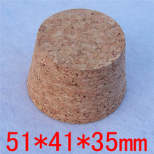 Free Shipping 51*41*35mm Big Wine Glass Bottle Tea Seal Pot Pudding Bottle Soft Corks Test Tube Stoppers