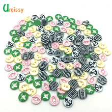 50pcs/lot Round Resin Multi Colors Buttons Sewing Tools Decorative Button Scrapbooking Garment DIY Apparel Accessories
