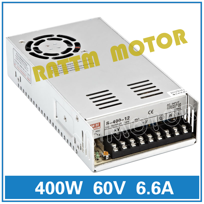 400W 60V Switch Power Supply! CNC Router  Single Output Power Supply 400W 60V Foaming Mill Cut Laser Engraver Plasma<br>