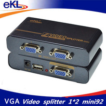 EKL 350MHZ 2 ports VGA Video splitter 1 input 2 output support USB power adaptor